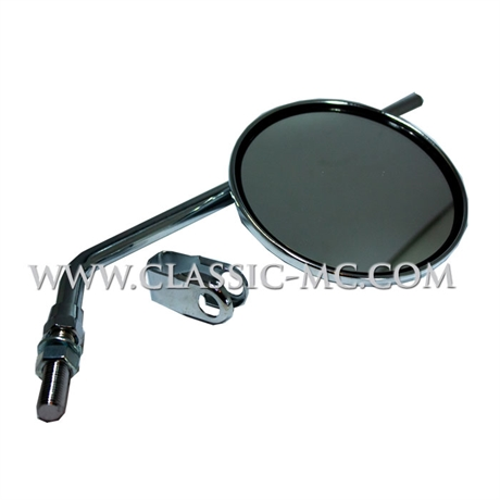 MIRROR, ROUND CHROME 10 MM TAP W/CLAMP