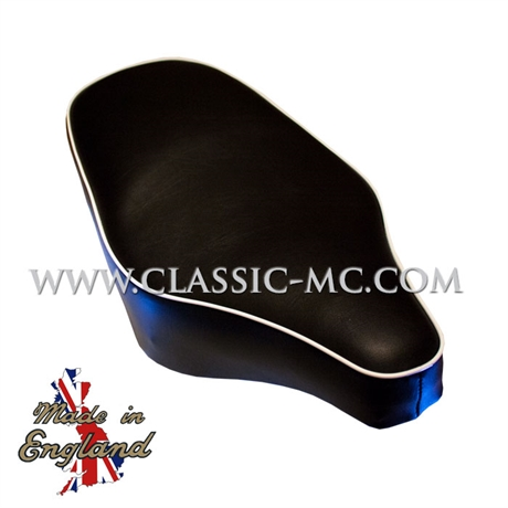 SEAT, P/U 1954-59 BLACK WHITE PIPING SHORT