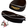SEAT, P/U 1960-62 BLACK WHITE PIPING